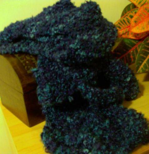 Blue Wavy Scarf
