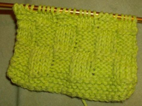 Lime Green Basketweave