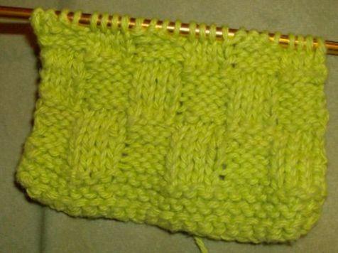 Lime Green Basketweave