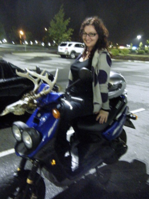 We rode from dinner to the movies - even though it was in the same plaza.