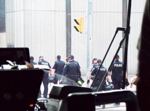 heavy police presence in Toronto. G20